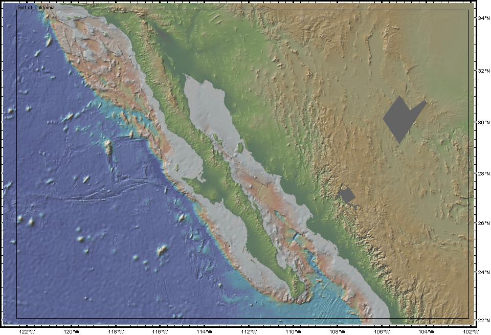 Gulf Of California Map.Geomapapp